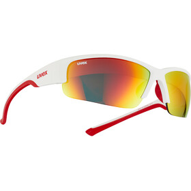UVEX Sportstyle 215 Glasses white mat red/red
